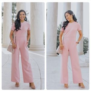 GAL MEETS GLAM NADIA JUMPSUIT IN PINK NWT